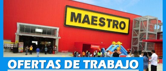 Maestro Tiene Ofertas de Trabajo Disponibles en Perú